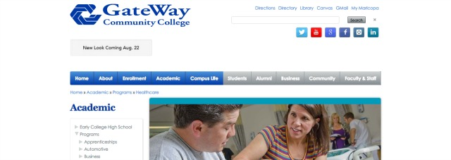 Gateway Community College - One of the best physical therapy assistant schools online.