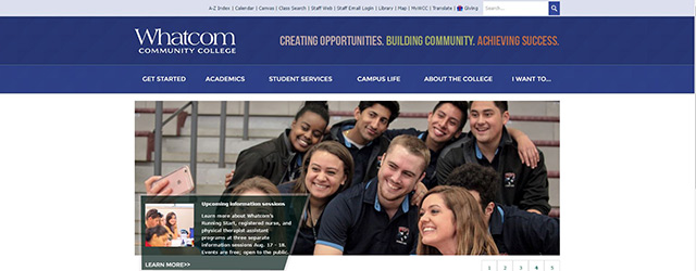 Whatcom is in the TOP 5 PHYSICAL THERAPY ASSISTANT SCHOOLS ONLINE