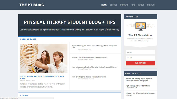 21 of the Best Physical Therapy Student Blogs