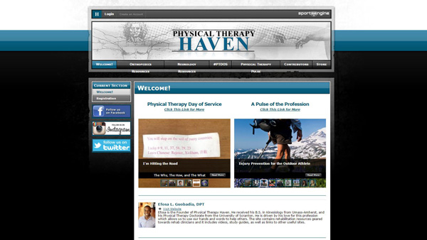 Haven is a PT student blog
